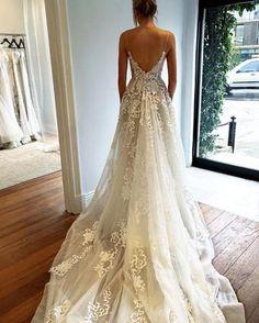 Charming Applique Elfenbein Inexpensive Braut Brautkleider, PM0614