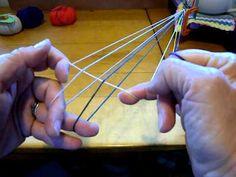 START HERE! 5-loop square fingerloop braid, pt.1