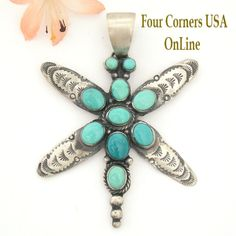 Four Corners USA Online - Carico Lake Turquoise Dragonfly Pendant Navajo Silver Jewelry by Ella Peter NAP-1461, $260.00 (http://stores.fourcornersusaonline.com/carico-lake-turquoise-dragonfly-pendant-navajo-silver-jewelry-by-ella-peter-nap-1461/)
