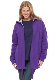 Plus Size Jacket, thermal-lined hooded fleece with drawstring hem
