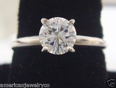 """Perfect... Classic, not trendy. """"1 Carat Diamond Ring Solitaire 4 Prong in 14K White Gold"""""""