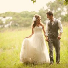 I want to take wedding pictures walking in a field!