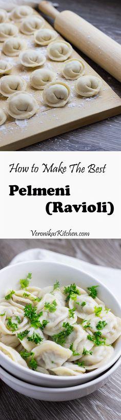 Russian Style Ravioli (Pelmeni) | Veronika's Kitchen