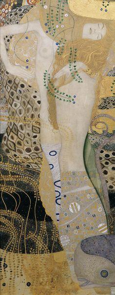 Wasserschlangen, Gustav Klimt - 1904-1907