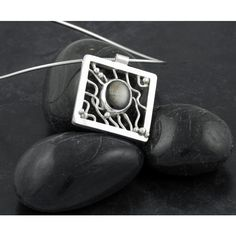 Sterling Silver and Black Star Sapphire Pendant