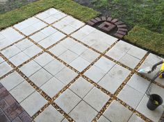 patio using 12x12 pavers - Google Search