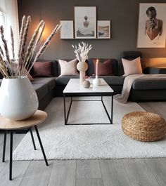 Beautiful Nordic living room inspiration in 2020 Nordic Living Room, Living Room Decor Cozy, Living Room Grey, Home Living Room, Apartment Living, Interior Design Living Room, Living Room Designs, Interior Livingroom, Modern Small Living Room