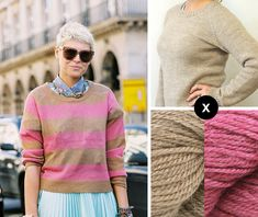 Knit the Look: Elisa Nalin's pink-striped pullover