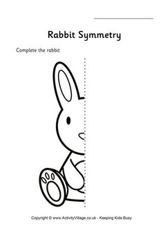 Rabbit symmetry worksheet