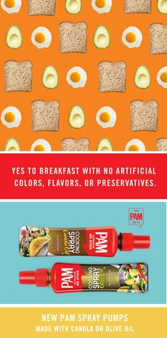 "You searched ""Easy breakfast recipes."" Keep them that way with NEW PAM Spray Pumps. #youPAMdoit"