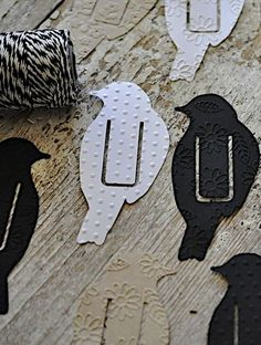 Bird bookmark - Make using craft paper. These would be awesome made from thin metal.