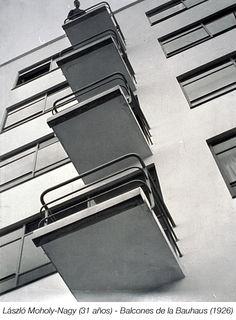 Laszlo Moholy Nagy. Balcones de la Bauhaus. Nuevas formas de mirar. Perspectiva en contrapicado.