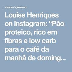 """Louise Henriques on Instagram: """"Pão proteico, rico em fibras e low carb para o café da manhã de domingo 😋    Pão de chia com linhaça  Ingredientes  1 xícara de chia  1…"""""""