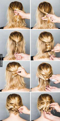 Braided Ponytail für kurze Haare