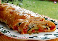 Strudel di verdure e formaggio, buonissimo e gustoso, molto semplice da preparare! ideale da servire come antipasto o piatto unico.