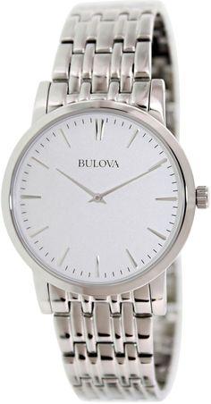 Bulova Mens 96A115 Silver Stainless-Steel Quartz Fashion Watch