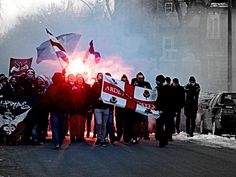 Ultras March to 1st leg of CONCACAF Champions League semifinals #Montreal