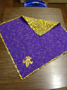 LSU Baby Quilt by jenniferhalley on Etsy, $100.00