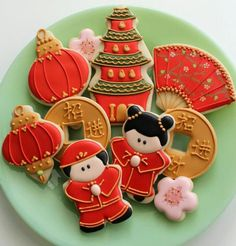 Chinese Cookies.....love how they decorated these cookies