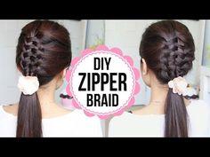 Zipper Braid Hair Tutorial (2 Ways) | Braided Hairstyles – Y ... | Cerkos App