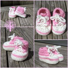 Knot Your Nana's Crochet: Crochet Converse Newborn High Tops
