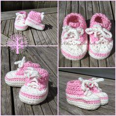 Knot Your Nana's Crochet: Crochet Converse Newborn High Tops