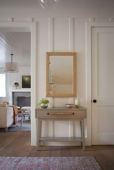 Love this board and batten treatment on the walls. Love the layer or texture this adds
