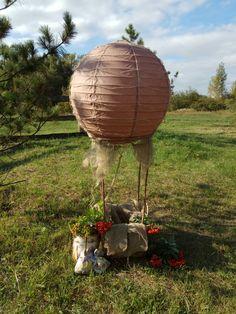 Вот такой получился воздушный шар для фотосессии малышей