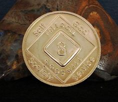 Narcotics Anonymous Vintage 8 Year Bronze Medallion 2005 Series Coin Chip Token | eBay
