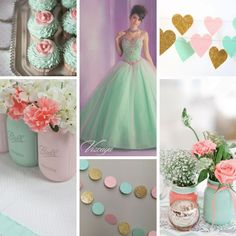 Mint and Pink Theme   Quinceanera Ideas   Party Planning  