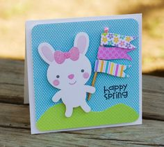 Sweet little Easter/Spring card by one of the masters of cute @Kimberly Kesti. Papers from Doodlebug.