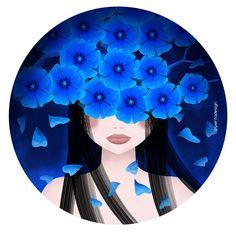 Blue flowers - piperitadesign