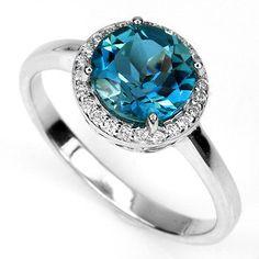 Genuine 3.8 ct Natural London Blue Topaz Ring by Dengpongsrishop