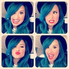 Demi Lovato - Blue Hair