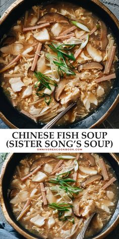 This centuries-old Chinese fish soup is so rich with flavor and history that it's a national treasure and tastes just as addictive as hot and sour soup. Seafood Recipes, Soup Recipes, Cookbook Recipes, Dinner Recipes, Asian Recipes, Oriental Recipes, Ethnic Recipes, Chinese Recipes, Healthy Soup