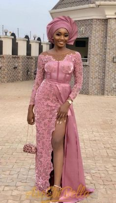 30 Beautiful And Trendy Lace Gown Styles (Updated) Aso Ebi Lace Styles, Lace Gown Styles, African Lace Styles, African Lace Dresses, Latest African Fashion Dresses, African Print Fashion, African Style, Nigerian Lace Dress, Nigerian Dress Styles