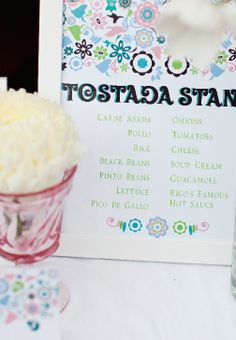 A Cinco De Mayo party is not complete without a tostada stand! Canvas & Canopy Events