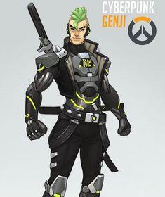 Genji Overwatch Genji, Overwatch Memes, Overwatch Fan Art, Overwatch Skin Concepts, Futuristic Samurai, Overwatch Costume, Genji Shimada, Le Clan, Anime Ninja