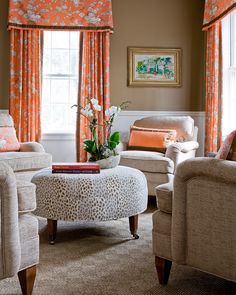 Honey Collins. love the chair fabric