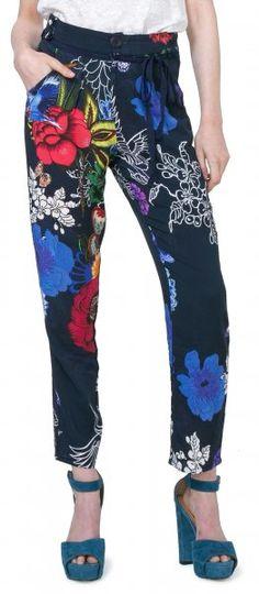 21e9eed76296e Desigual Spodnie Damskie Lindsay Xs Wielokolorowy - FS INSPIRE
