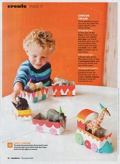 MerMag for FamilyFunMagazine: Tea Box Circus Train