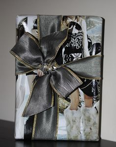 Christmas Gift wrapping Ideas::Use enlarged photos for paper.  ellinelledaydreams