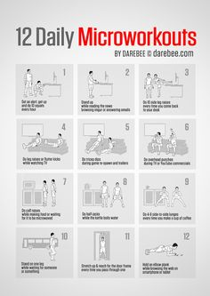 12 Daily Microworkouts