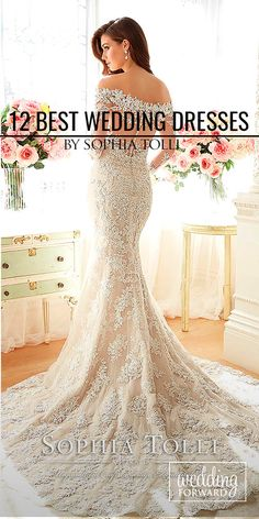 18 Best Sophia Tolli Wedding Dresses ❤ Sophia Tolli wedding dresses are known worldwide for their beautiful designs, hand-beaded appliqués, scalloped lace hem and chapel length train. See more: http://www.weddingforward.com/sophia-tolli-wedding-dresses/ #wedding #dress