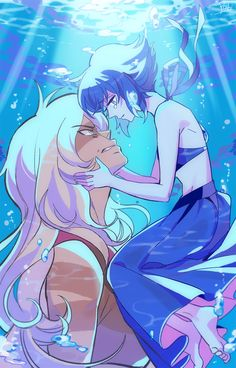 One of my personal favorite pictures of Lapis and Jasper.