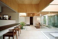 Loving this space and the timber finish to the ceiling!