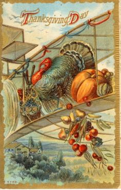 Vintage Thanksgiving Postcards : Viintage