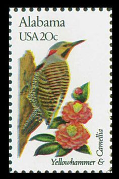 1982 20c Alabama State Bird & Flower - Catalog # 1953 For Sale at Mystic Stamp Company
