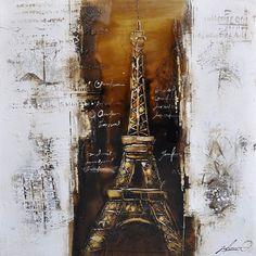 Paris a la Mode I 39 x 39 Oil Painting Reproduction