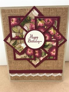 Homemade Birthday Cards, Homemade Greeting Cards, Happy Birthday Cards, Greeting Cards Handmade, Homemade Cards, Fun Fold Cards, Folded Cards, Stamping Up Cards, Christmas Cards To Make